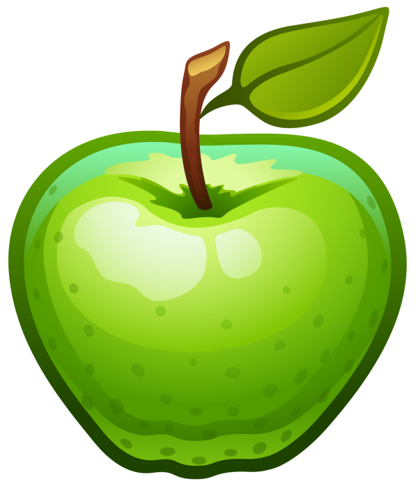 Apple Fruit Computer Icons Green Transparent Background PNG Clipart