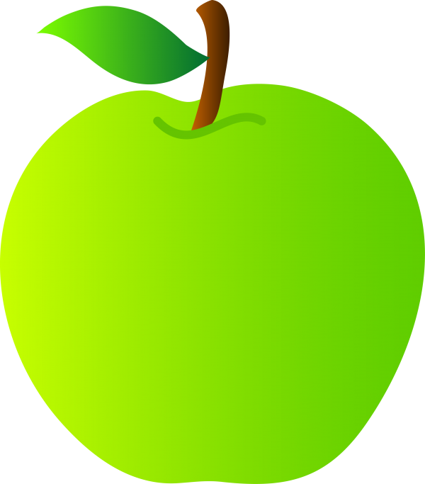 Granny Smith Green Open Tree Transparent Background PNG Clipart