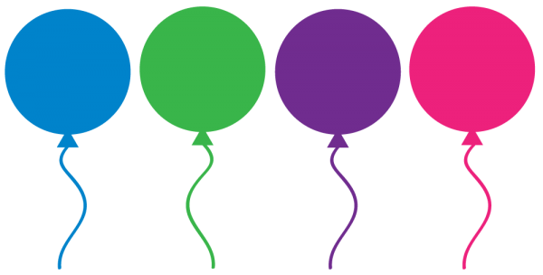 Party Bundle Of Balloons Open Purple Transparent Background PNG Clipart