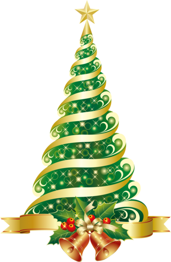 Tree Christmas Lights Santa Claus Christmas Tree Transparent Background PNG Clipart