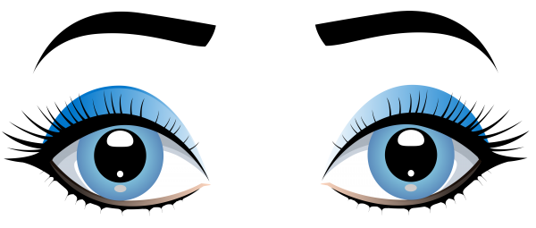 Eye Female Girl Clip Art Transparent Background PNG Clipart