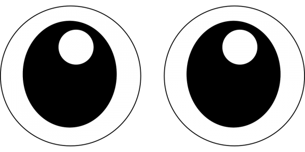 Scalable  Open Googly Symbol Transparent Background PNG Clipart
