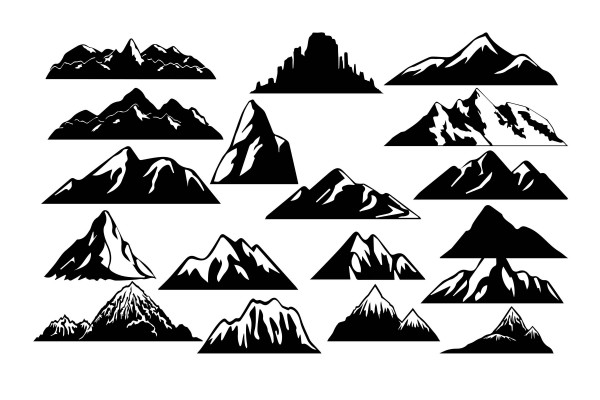 Summit Mountain Range Alps Graphics Transparent Background PNG Clipart