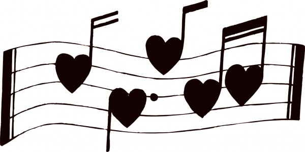 Valentines Day Song Musical Note Heart Transparent Background PNG Clipart