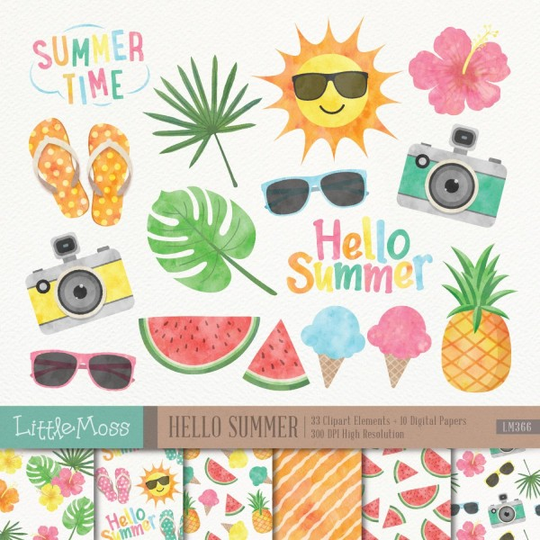 Watercolor Painting Painting Summer Food Transparent Background PNG Clipart