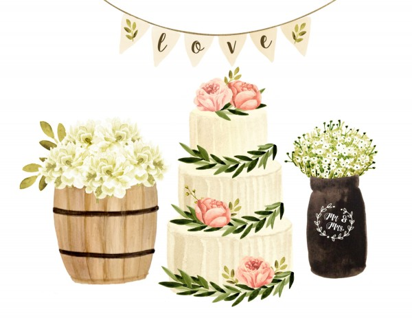 Invitation Watercolor Painting Cake Ceramic Transparent Background PNG Clipart