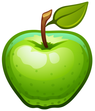 apple, fruit, computer icons, green transparent background PNG clipart thumbnail