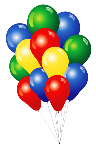 100 premium quality balloons 12 inch assorted color helium and air balloons for birthdays and events by nexci, document, open, toy - balloon transparent background PNG clipart thumbnail