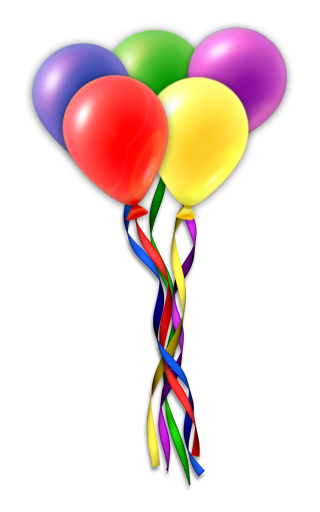 balloon birthday, birthday, anniversary, heart transparent background PNG clipart thumbnail