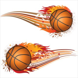 outline of basketball, basket flames, canestro, team sport - basketball transparent background PNG clipart thumbnail