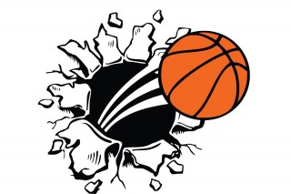 stock , sports, mural, logo - basketball transparent background PNG clipart thumbnail