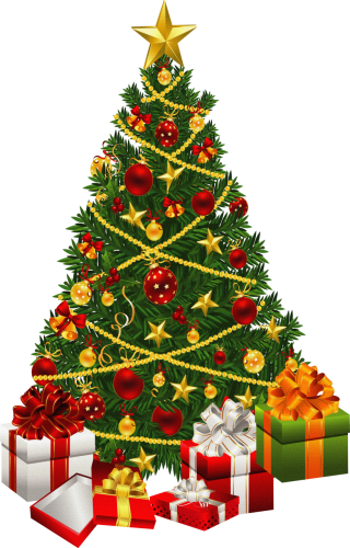fir, scalable , christmas tree, christmas ornament - christmas transparent background PNG clipart thumbnail