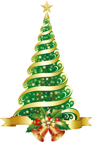 tree, christmas lights, santa claus, christmas tree - christmas transparent background PNG clipart thumbnail