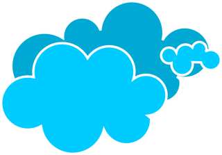 clip art, cloud, silhouette, azure - cloud transparent background PNG clipart thumbnail