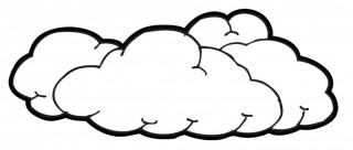 cloud, art, line art, line art - cloud transparent background PNG clipart thumbnail