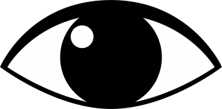 open, scalable , cartoon, black-and-white - eyes transparent background PNG clipart thumbnail