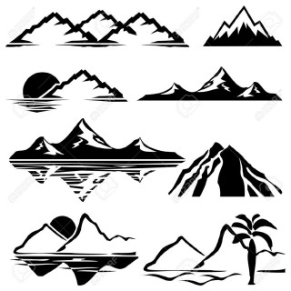 mountain, silhouette, euclidean vector, art - mountain transparent background PNG clipart thumbnail