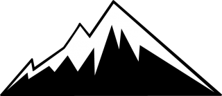 rocky mountains, web design, silhouette, black-and-white transparent background PNG clipart thumbnail