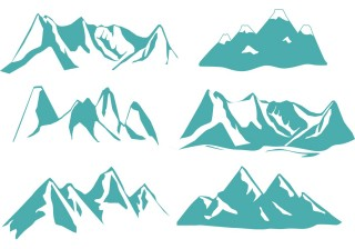 silhouette, rocky mountains, euclidean vector, illustration - mountain transparent background PNG clipart thumbnail