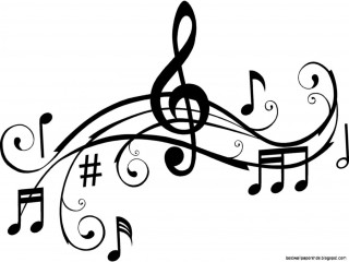 clip art, music , black and white, illustration - music notes transparent background PNG clipart thumbnail