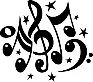 musical note, design, singing, black-and-white - music notes transparent background PNG clipart thumbnail