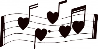 valentines day, song, musical note, heart - music notes transparent background PNG clipart thumbnail