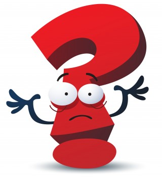 cartoon, exclamation mark, question mark, red transparent background PNG clipart thumbnail