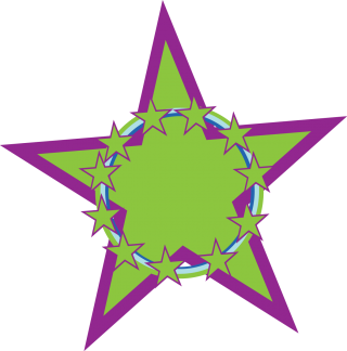 blue, green star, clip art, star - star transparent background PNG clipart thumbnail