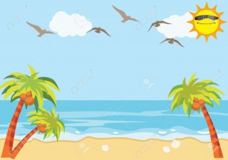 cabarete, beach, sea, palm tree - summer transparent background PNG clipart thumbnail