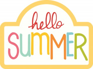 hello summer, summer is here, summer is here, text - summer transparent background PNG clipart thumbnail