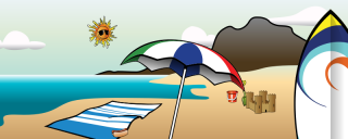 summer vacation, website, blog, clip art transparent background PNG clipart thumbnail