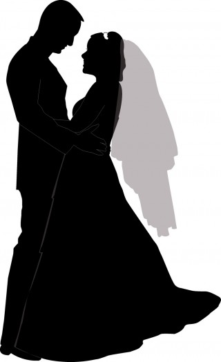 bride, silhouette, wedding, dress - wedding transparent background PNG clipart thumbnail